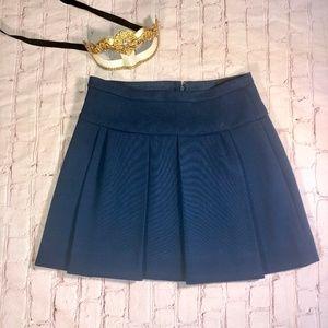 J. Crew Box Caravan Blue Pleated Skirt